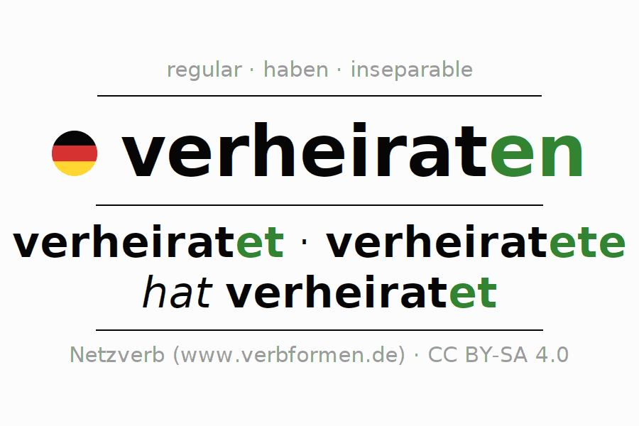 Conjugation of German verb verheiraten