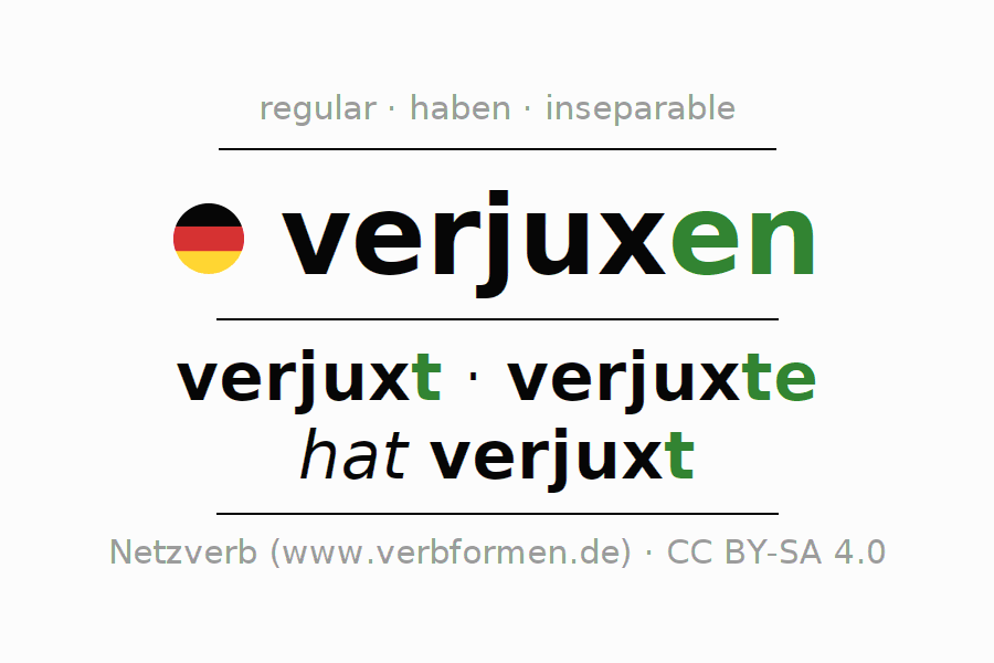 Conjugation of verb verjuxen