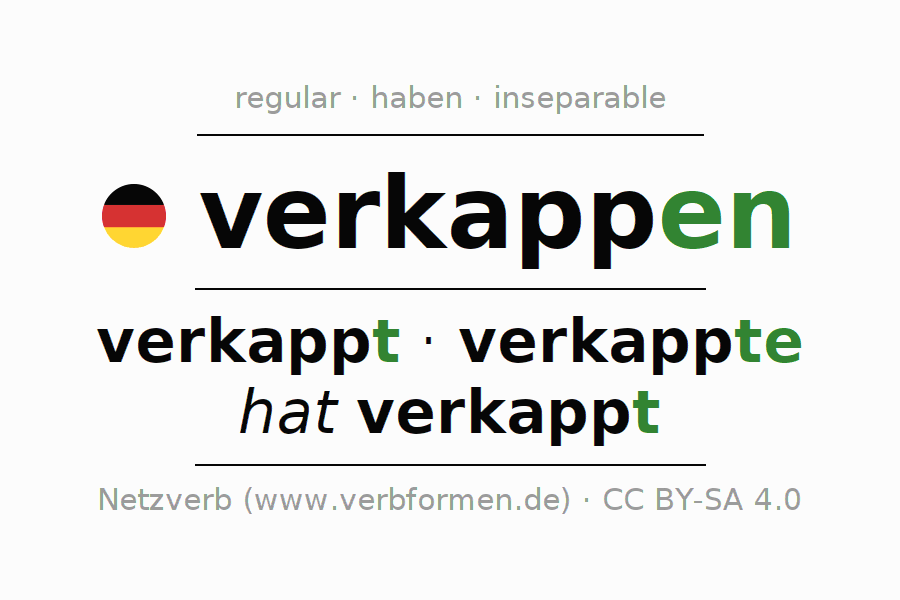 Conjugation of verb verkappen