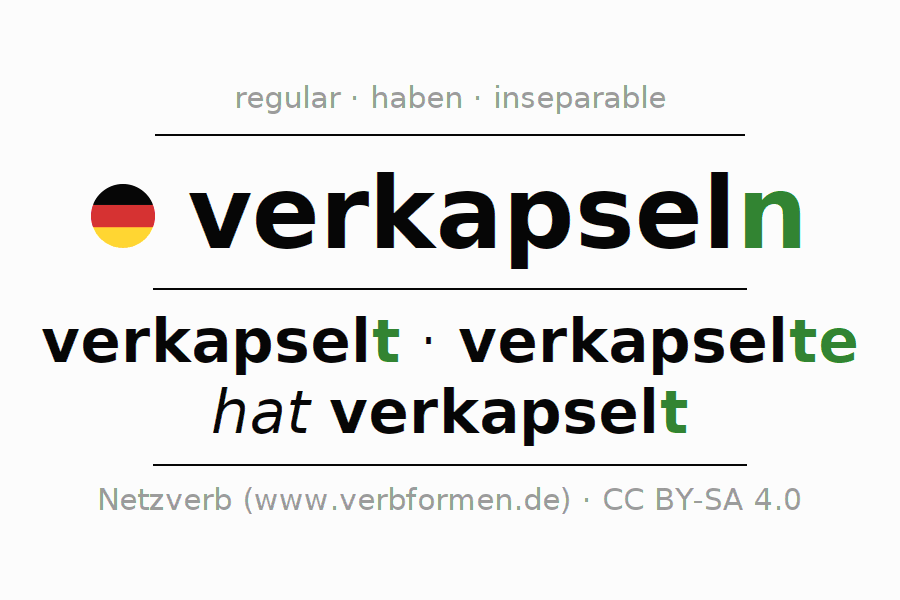 Conjugation of German verb verkapseln