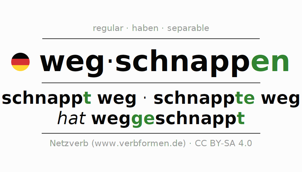 Conjugation of German verb wegschnappen