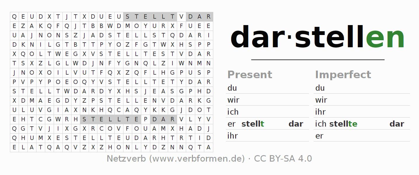 Conjugation | darstellen (represent) | Conjugate German Verbs ...