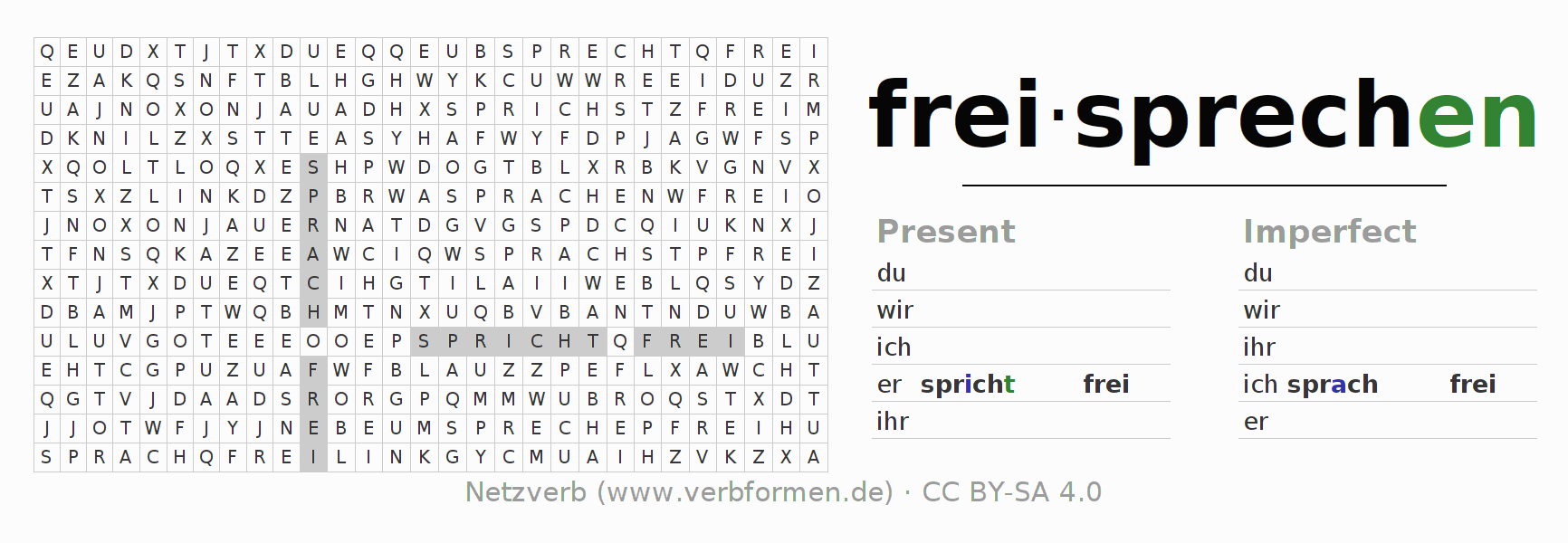 worksheet Pe Worksheets worksheets verb freisprechen exercises for conjugation of word search puzzle the freisprechen
