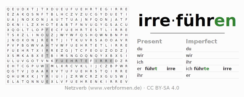 Worksheets Verb Irrefhren Exercises For Conjugation Of German