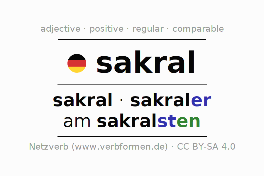 Declension   sakral   All Forms, Comparison, Tables and Downloads