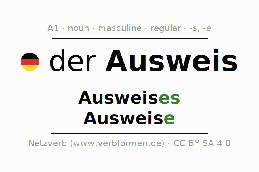 Declension | Ausweis | All Forms, Plural, Rules and Downloads