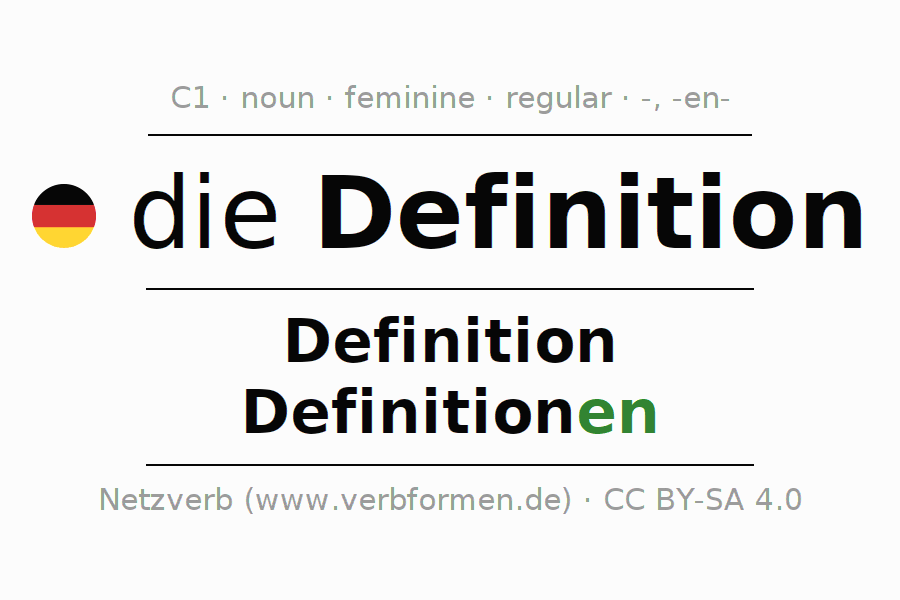 Declension And Plural Of Definition