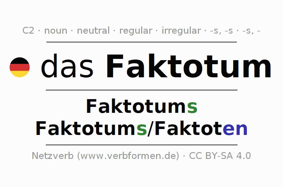 Declension Faktotum (factotum) | All forms, plural ...